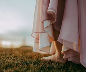 dress, grass, and summer image