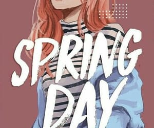 bts, spring day, and wallpaper image