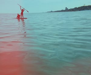 beach, sup, and summer image