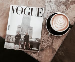 coffee, vogue, and magazine image