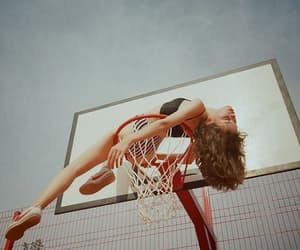 Basketball, sky, and blue image