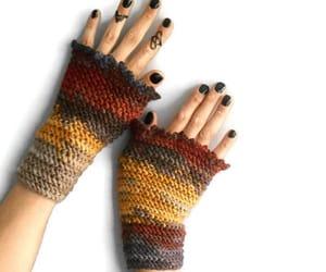 fingerless gloves, crochet fingerless, and crochet gloves image