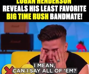 OMG, logan henderson, and rusher. btr image