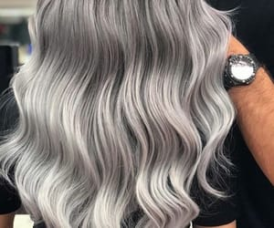 curly, grey, and hairstyle image