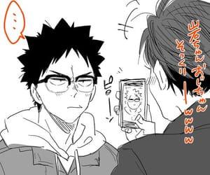 anime, iwaizumi, and bl image