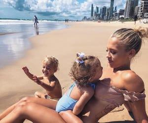 beach, bikini, and kids image