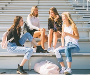 college, fashion, and friendship image