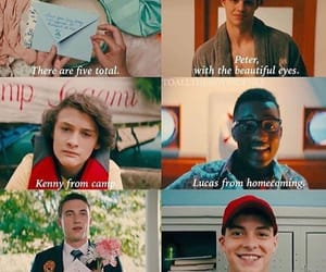 peter kavinsky, kenny, and letters image