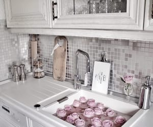 flowers, kitchen, and rose image