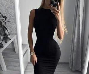 black, black color, and black mood image