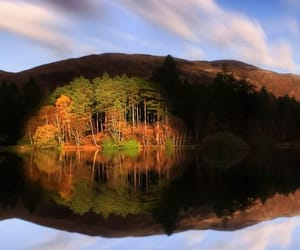 autumn, scotland, and reflections image