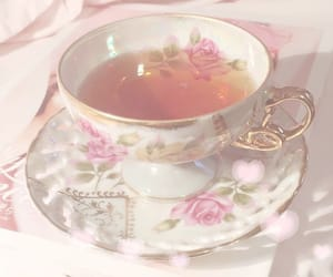 aesthetic, pink, and tea image