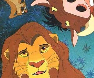 disney, lion king, and timon image