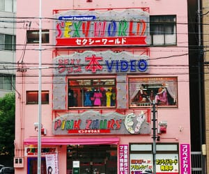pink, japan, and street image