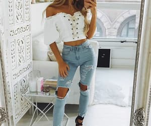 fashion, girl, and crop-top image