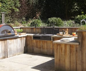 barbecue, patio, and garden image