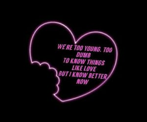 Lyrics, young blood, and by me image