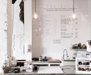 cafe, white, and aesthetic image