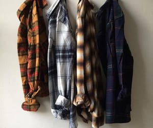 plaid, flannel, and aesthetic image