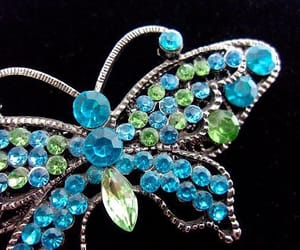 blue, butterfly, and butterfly jewelry image