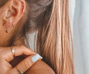 accessories, earring, and hair image