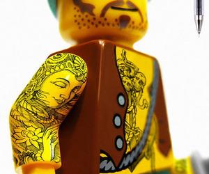 design, lego, and tattoo image