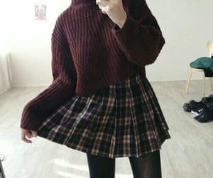 outfit, fashion, and sweater image