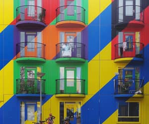 architecture, balconies, and colorful image