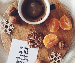 tea, autumn, and coffee image