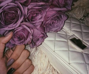 bags, beautiful, and flowers image