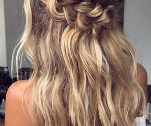 braid, hairs, and braided hair image