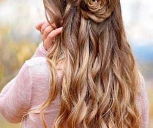beautiful, curl, and brown hair image