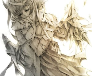 angels, anime, and anime couple image