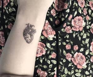 tattoo, art, and heart tattoo image