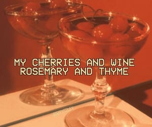 cherry, red, and wine image