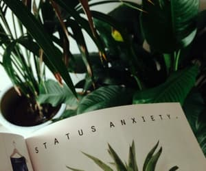 green, plants, and book image