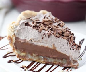 chocolate, pie, and desserts image