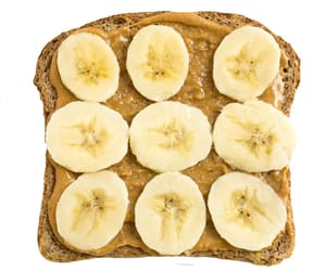 png, toast, and banana image