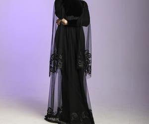 dress, elegance, and hijab image