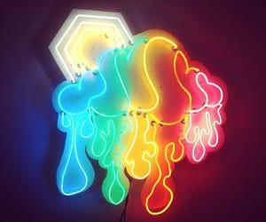 neon, rainbow, and light image