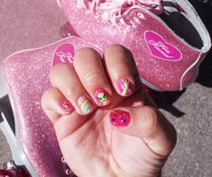 kawaii, cute nails, and too faced image