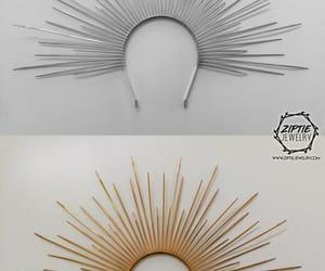 etsy, black headpiece, and spiked headband image