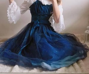 aesthetic, blue, and Prom image