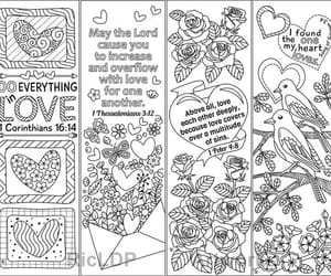 etsy, love bible verses, and zentangle coloring image