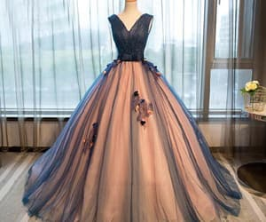 a-line evening dress, ball gown evening dress, and custom made prom dresses image