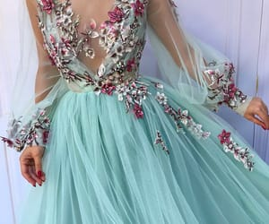 blue, fairytale, and dresses image