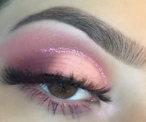 glitter, lashes, and makeup image