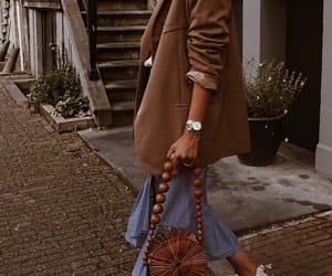 bag, brown, and chic image