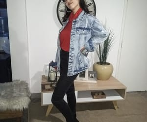 fashion, red, and jean image