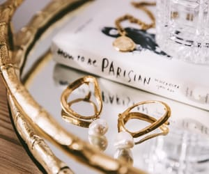 accessories, gold, and golden image